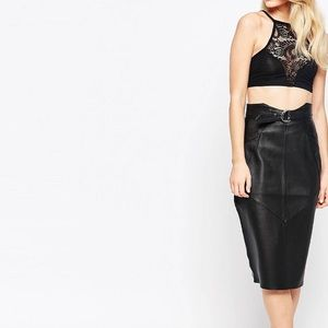 Boohoo Petite Lace Detail Crop Top